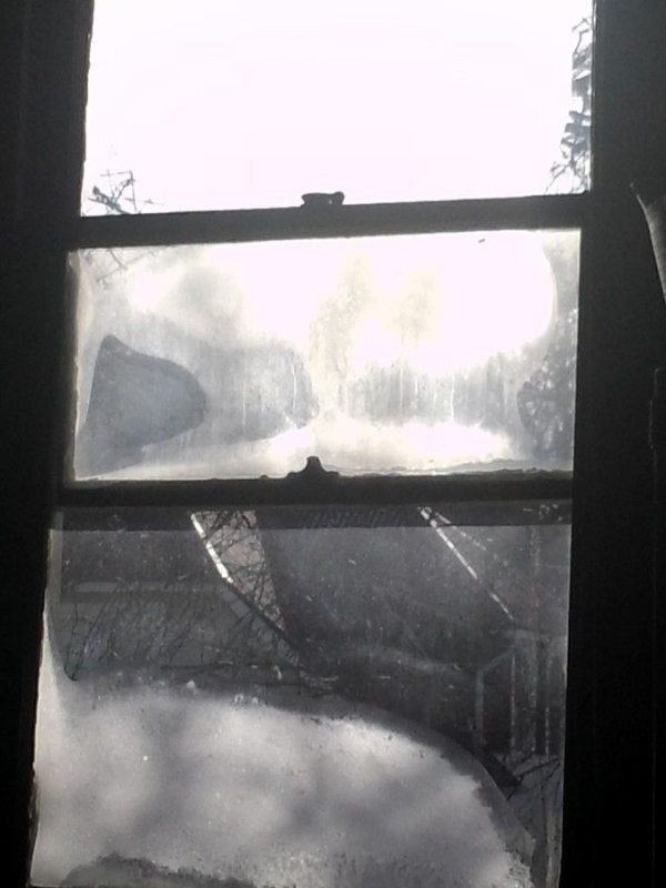 Frosted window in Appalachia