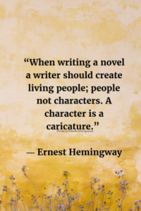 Writers on Character EclecticEvelyn.com