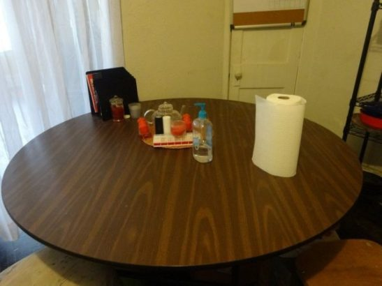empty kitchen table hunger