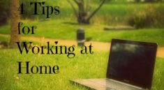 4 Tips for Working at Home Eclecticevelyn.com