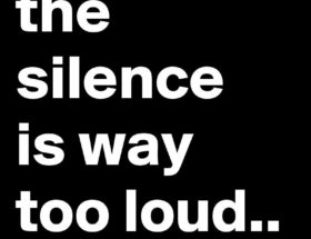 Silence is too loud EclecticEvelyn.com