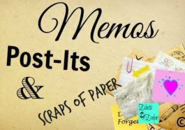 Memos Post-Its and Scraps of Paper #SoCS EclecticEvelyn.com