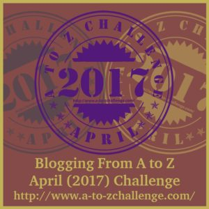 #AtoZChallenge 2017 Eclectic Evelyn.com