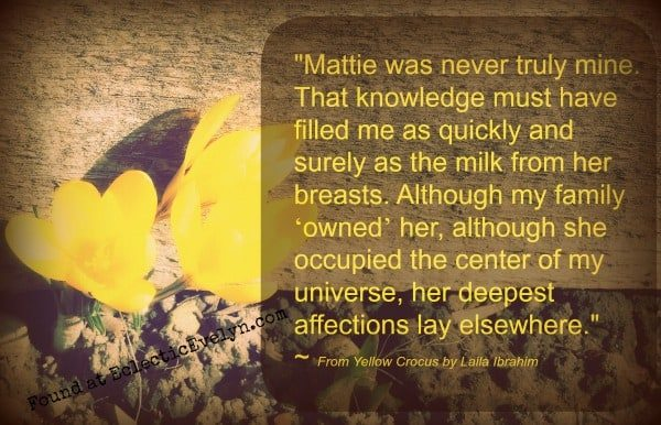 #FridayReads Yellow Crocus EclecticEvelyn.com