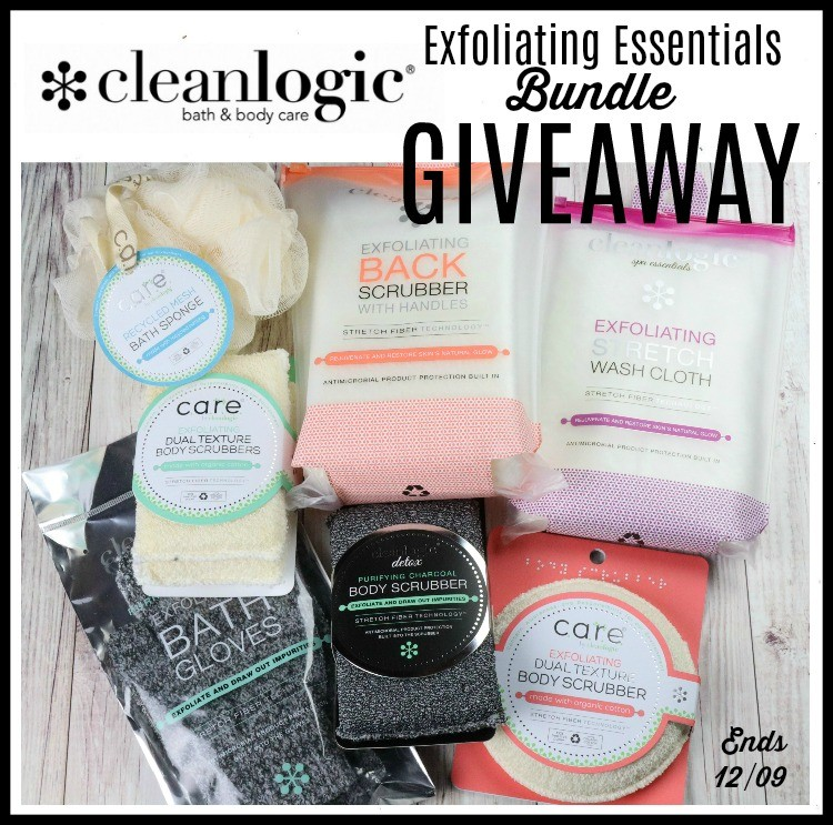 Cleanlogic Exfoliating Essentials Bundle Giveaway (Ends 12/09) @LoveCleanLogic @SMGurusNetwork #Holiday19