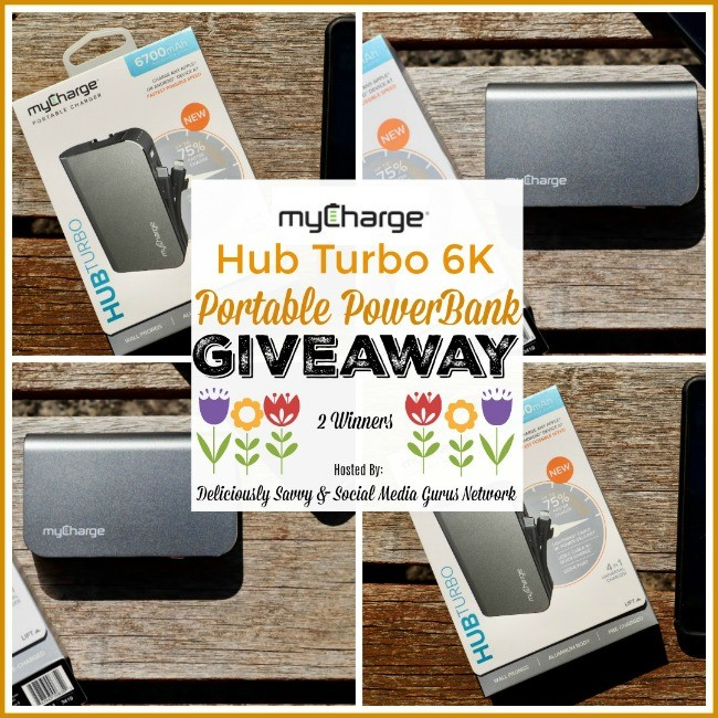 Hub Turbo 6K Portable PowerBank from @myChargePower Giveaway ends 4/5