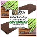 John Boos & Co. Walnut Rustic-Edge Cutting Board Giveaway end 6/28