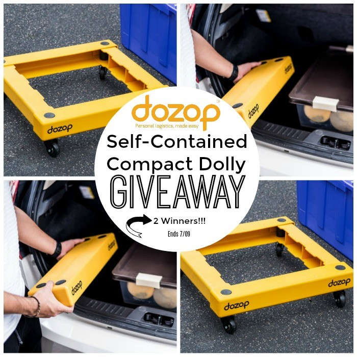 Dozop Self-Contained Compact Dolly 2 Winner Giveaway ends 7/9 @dozopit @deliciouslysavv