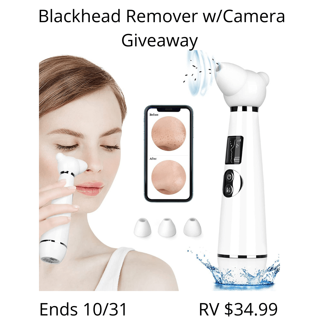 Blackhead Remover Vacuum with Camera Giveaway ends 10/31